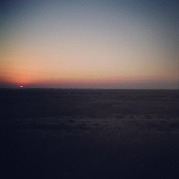 The sun goes down again.