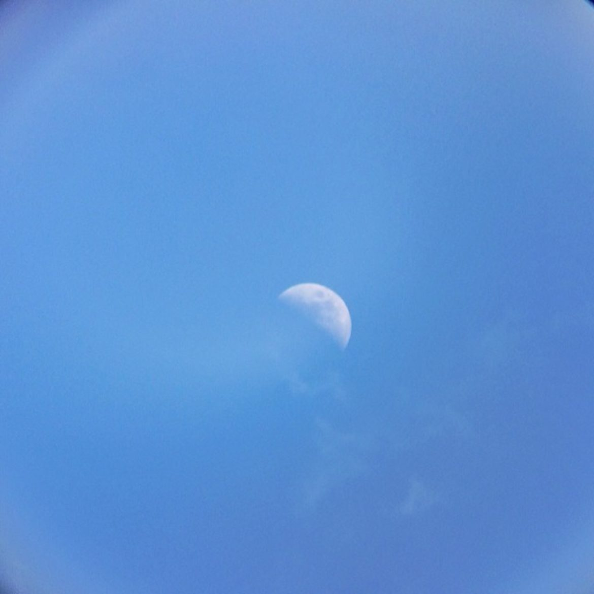 Moon in day light