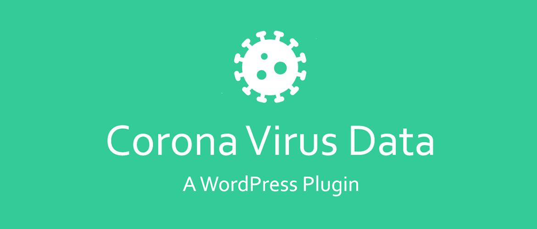 WordPress插件 冠状病毒数据